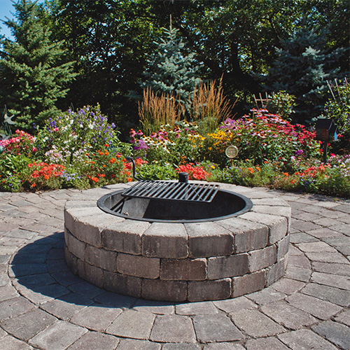 fire pits water features home grown outdoor finishes. Black Bedroom Furniture Sets. Home Design Ideas